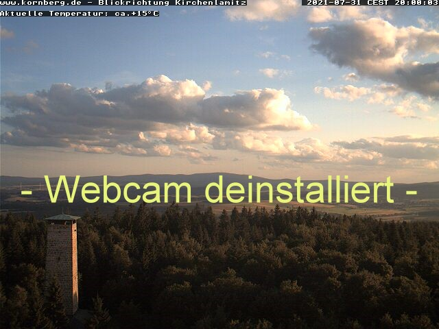 Webcam Kornberg - Blickrichtung Süd-West