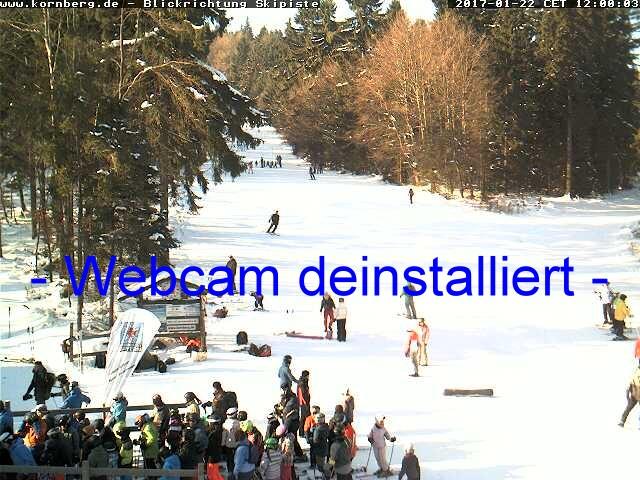Aktuelles Webcam-Bild in Blickrichtung Skipiste